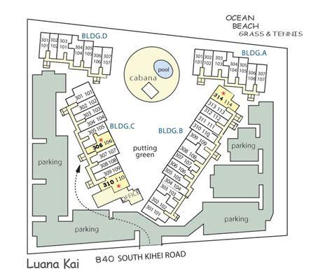 Honua Kai Floor Plan by Kihei Luana Kai Vacation Rental Condos Affordable Ocean