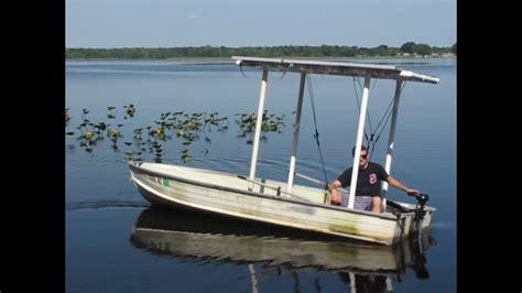 small motor boat with canopy 100 solar boat youtube