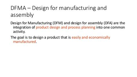design for manufacturing assembly guidelines designing product for the customer house of quality matrix