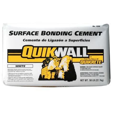 quikrete quikwall 50 lb white surface bonding cement