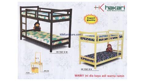 Ranjang Kayu Tingkat jual ranjang kayu tingkat bb hk 5561 hakari