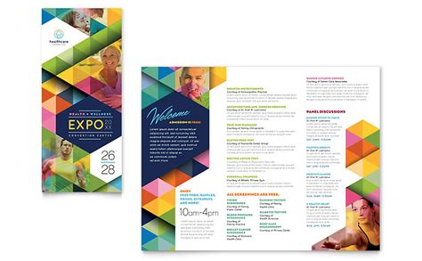 health fair tri fold brochure template design