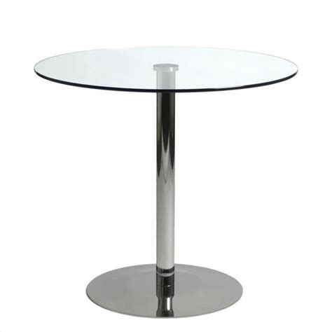 Glass Bistro Table Eurostyle Bistro Dining Table In Clear Glass And Chrome 38410a 38410g Kit