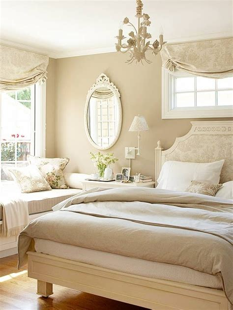 pinterio soft beige bedroom with the sofa