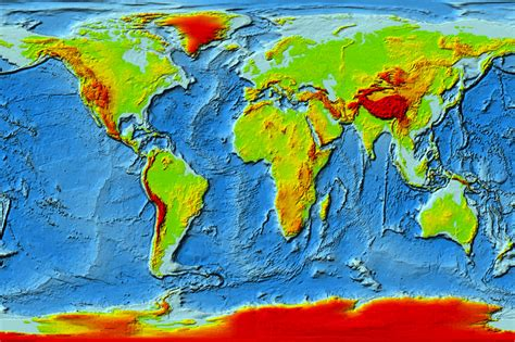 topographic map of the world topographic map of earth nasa pics about space
