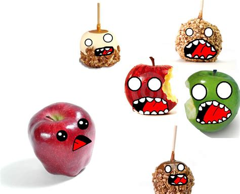 apple zombie wallpaper when apples are zombies by awesomegigantor on deviantart