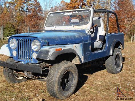 Jeep Cj Project For Sale 1979 Jeep Cj7 With Yj Wrangler Tub Project Or Parts Cj