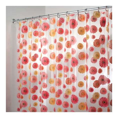 Gerber Daisy Vinyl Shower Curtain In Shower Curtains And Rings