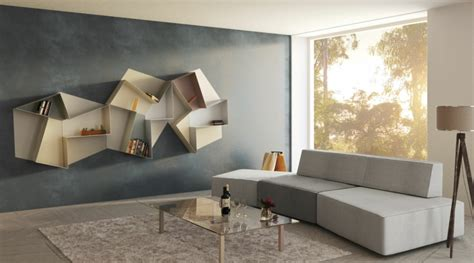 muebles de sala modernos  repisas  libros  decorar