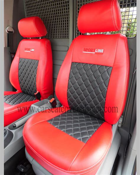 vw caddy bench seat volkswagen vw caddy red black seat covers custom van