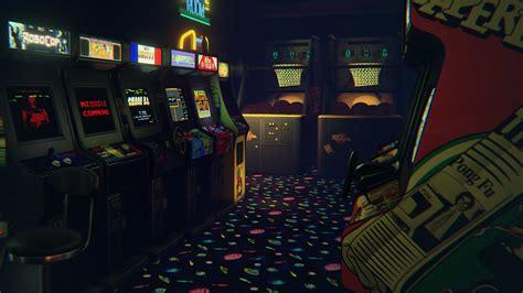 retro arcade neon virtuelle arcade halle erhaelt vive