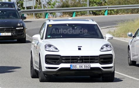 new porsche 2018 2018 porsche cayenne spied sporting new front end