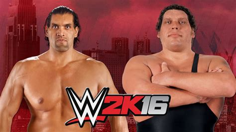 And The Giants the great khali vs andre the