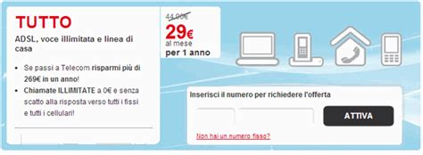 telecom italia offerte casa offerte adsl e fibra ottica confronta tariffe adsl
