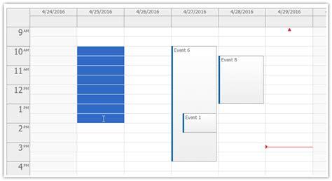drag and drop javascript scheduler daypilot for time range selecting event calendar daypilot