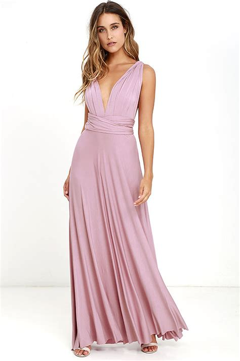 lulu s awesome mauve dress maxi dress wrap dress 78 00