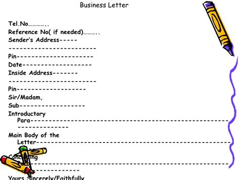 business letter format class 12 format of business letter class 12 gallery