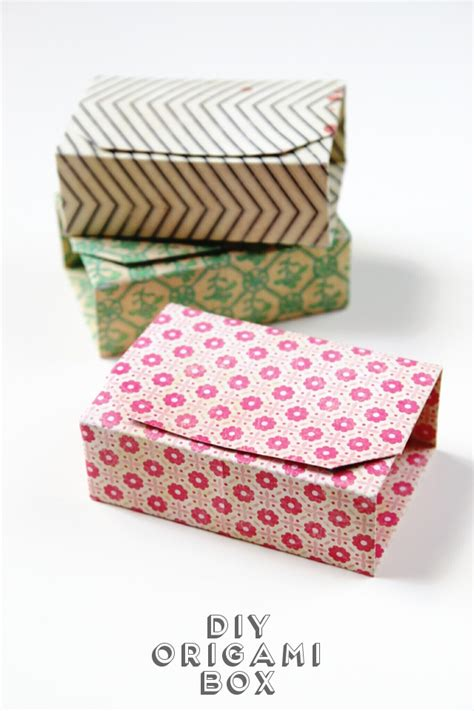 Rectangle Origami Box - rectangular diy origami boxes gathering