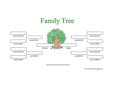 printable family tree with aunts and uncles best photos of family tree template sheet printable
