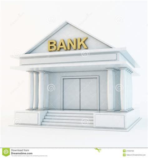 Bank 3d Icon Stock Photo Image 21594150