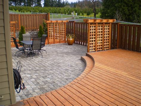 Designer Decks And Patios Portland Patio Contemporary Deck Portland By Paradise Restored Landscaping Exterior Design