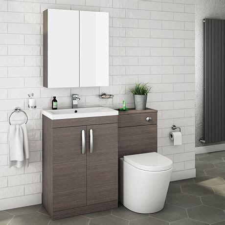 grey avola modern sink vanity unit toilet
