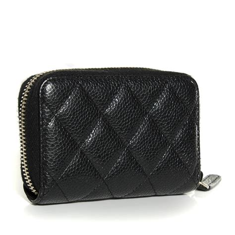 Quilted Black Purse by Chanel Caviar Quilted Zip Coin Purse Black