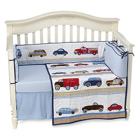 cars crib bedding whistle wink cars and trucks 3 piece crib bedding set