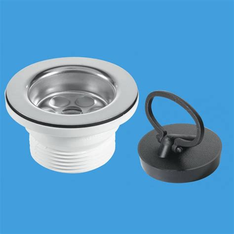 kitchen sink waste fittings mcalpine bsw10pr 1 1 2 x 70mm flange sink waste outlet