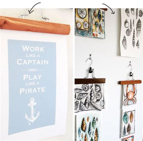 creative ways to hang posters diy crafts