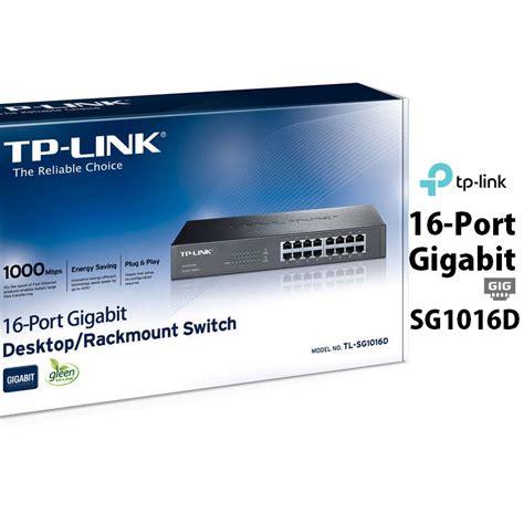 Murah Tp Link Tl Sg1016de 16 Port Gigabit Easy Smart Switch tp link 16port gigabit desktop rackmount switch