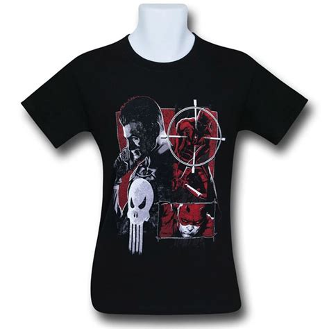 One From Square T Shirt daredevil vs punisher square s t shirt