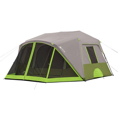 cabin tents ozark trail 9 person 2 room instant cabin tent with screen