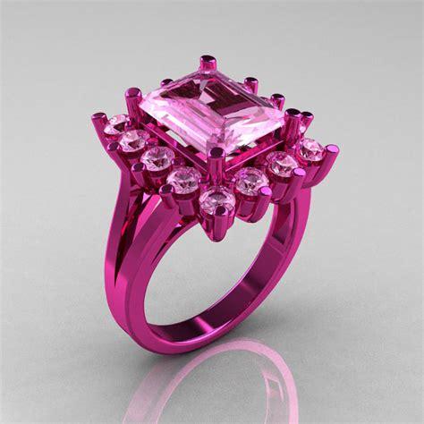 modern victorian 14k pink gold 4 0 ct light pink sapphire
