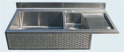 apron sink with drainboard made stainless sink with drainboard woven apron by