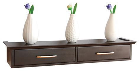 wall shelf with storage and drawers by