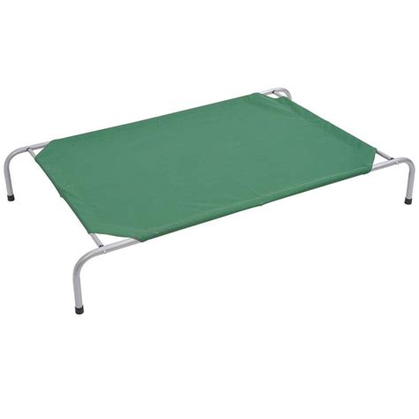 dog bed cot pawhut xl elevated folding dog bed cot green