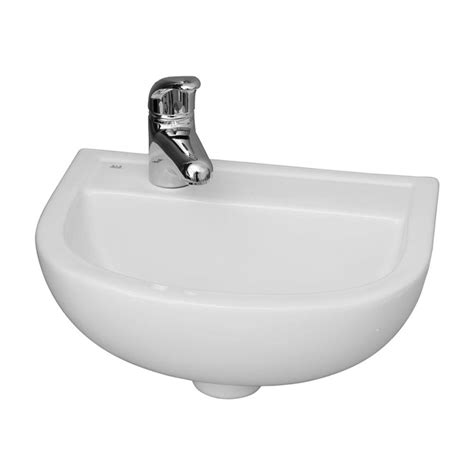 Barclay Products Compact 15 In Wall Mounted Bathroom Sink Compact Bathroom Sink