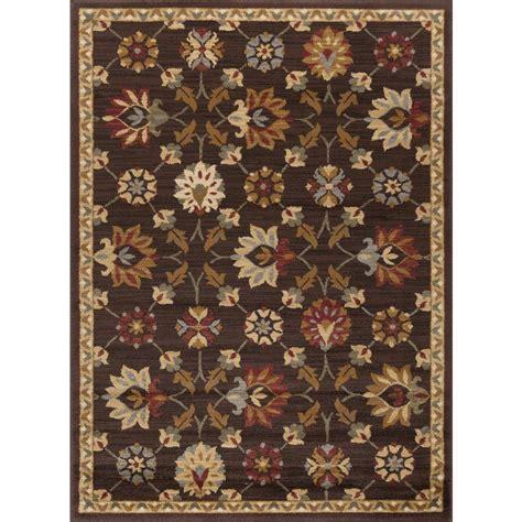 tayse rugs elegance brown 5 ft x 7 ft indoor area rug