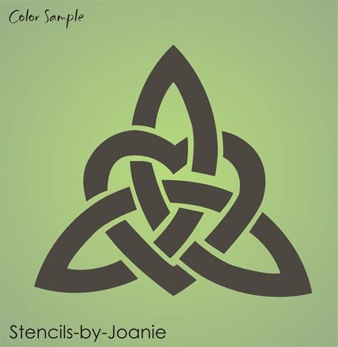 celtic stencil 10 quot gaelic trinity heart knot irish decor