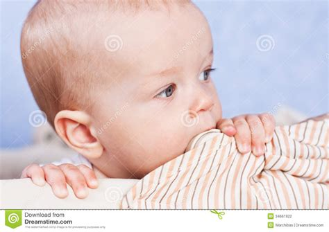baby teething chew teething baby stock photography image 34661922