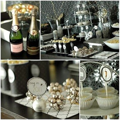 easy entertaining black and white new year s