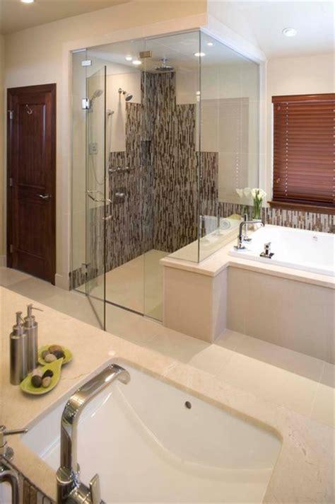 contemporary bathtub shower combo modern shower bath combination with threshold proline installation modern other