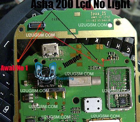 Lcd Hp Nokia Asha 200 nokia asha 200 lcd light solution