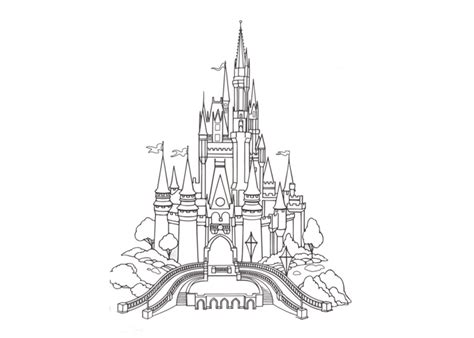 Castle Coloring Pag Coloring Pages Cinderella Castle Coloring Pages