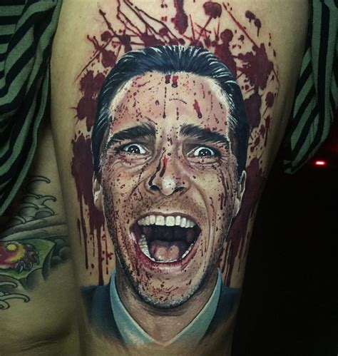 tattoo psycho bateman american psycho best ideas designs