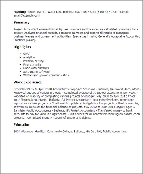 Construction Project Accountant Cover Letter by Project Accountant Resume