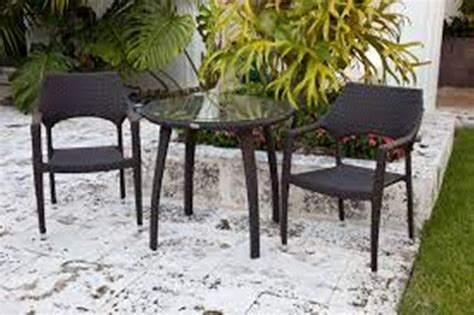 small patio tables and two chairs outdoor decorations