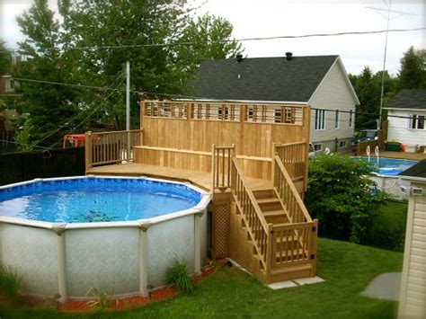La Canada Pool And Patio by Patio Plus Patios Et Piscines Pool With Deck