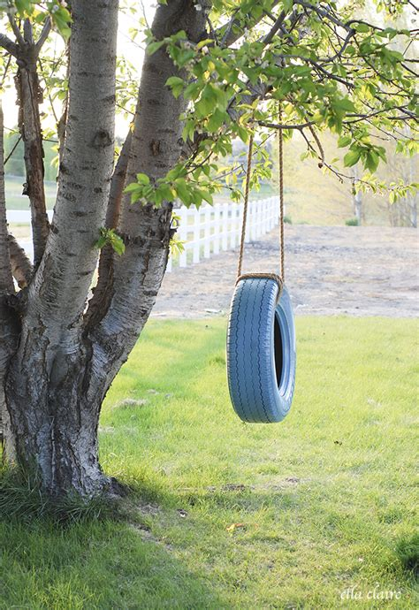 how to build a tire swing easy diy tire swing ella claire
